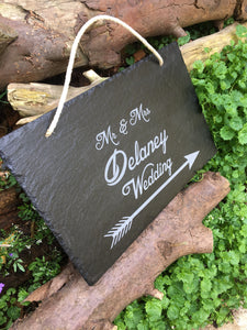 engraved slate engraved wedding sign personalised wedding sign customised wedding sign
