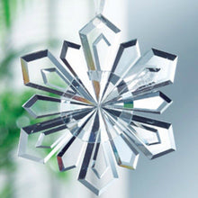 Load image into Gallery viewer, Snowflake Galway Crystal Christmas Decoration Hanging Ornament