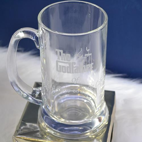 The Godfather Engraved Beer Mug  Engraved Beer Tankard