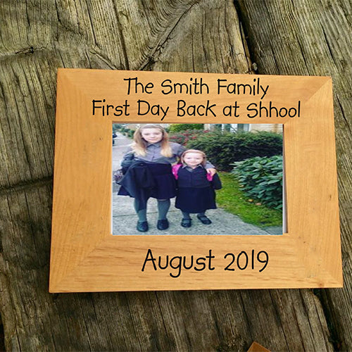 Personalised Family Photo Frame Engraved Family Photo Frame