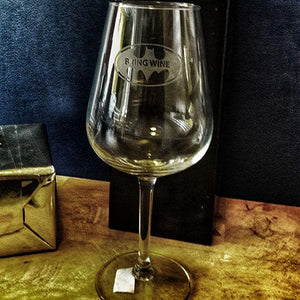 Bring Wine Engraved Wine Glass