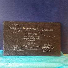 Load image into Gallery viewer, Treat Tray Engraved Slate Tray Personalised Christmas Eve Treat Tray