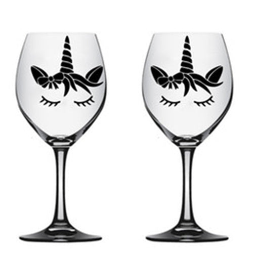 Unicorn Engraved Wine Glass