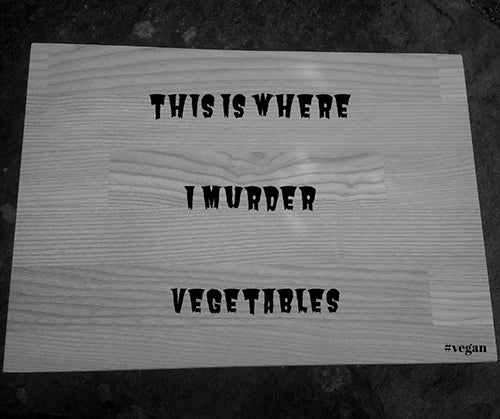 Vegan Engraved Board Personalised Vegetarian Chopping Board
