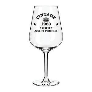 Vintage Engraved Wine Glass