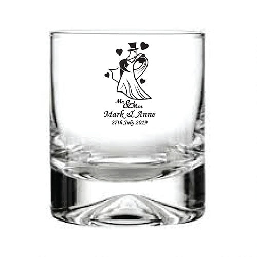 Engraved Whisky Tumbler  Personalised Whisky Glass Gifts for Whisky Drinkers  Bridal Party Glassware Engraved Wedding Glasses
