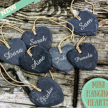 Load image into Gallery viewer, Personalised Mini Heart Tags -  Customised Mini Heart Tags.
