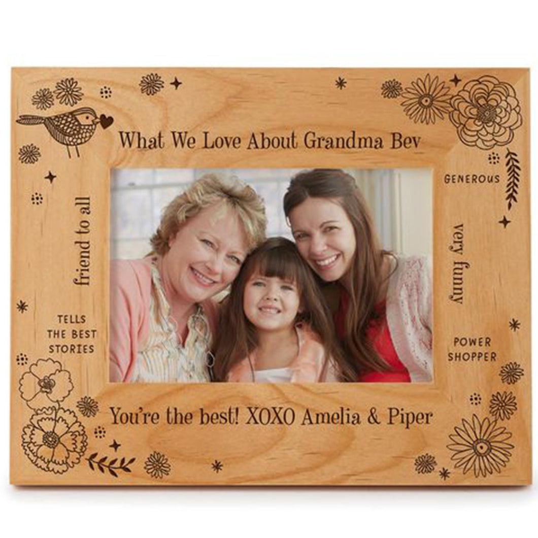 Engraved Picture Frame What We Love About Grandma