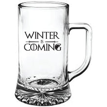 Load image into Gallery viewer, Game of Thrones Winter is Coming Engraved Beer Tankard