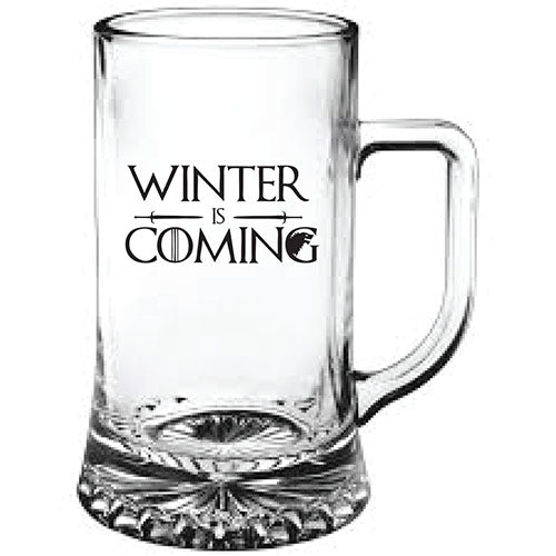 Game of Thrones Winter is Coming Engraved Beer Tankard