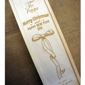 Engraved Wine Box Personalised Wine Box Custom Designed Wine Box Personalised Christmas Box