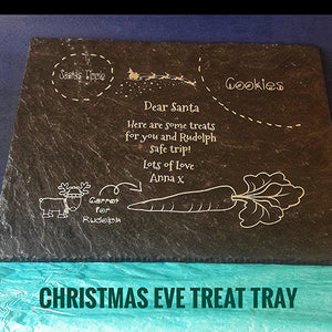Treat Tray Engraved Slate Tray Personalised Christmas Eve Treat Tray
