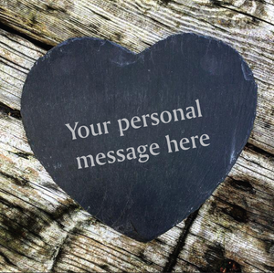 Any Message Here Slate Heart Board