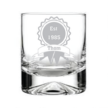 Load image into Gallery viewer, Engraved Whisky Tumbler Personalised Whisky Tumbler