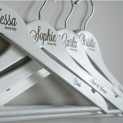 Engraved Wooden Hangers Personalised Hangers Engraved Wedding Party Hangers