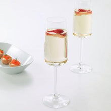 Load image into Gallery viewer, Bride and Groom Engraved Champagne Flutes