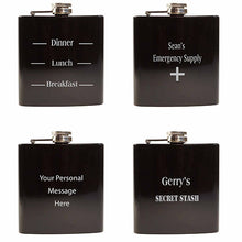 Load image into Gallery viewer, Hip Flask Engraved Hip Flask Personal Message Hip Flask Hip Flask for Stag Party Engraved Best Man Gifts