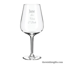 Load image into Gallery viewer, Personalised Wine Glass Engraved Wine Glass Customised Wine Glass