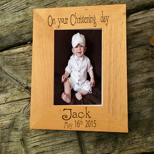Personalised Christening Picture Frame Engraved Christening Photo Frame Christening Photo Frame Engraved Picture Frame for Christening Personalised Picture Frame for Christening