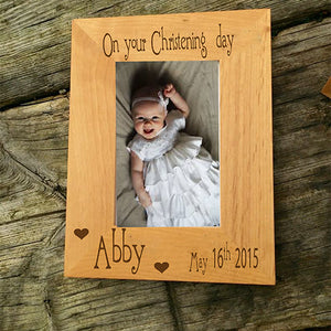 Personalised Christening Picture Frame