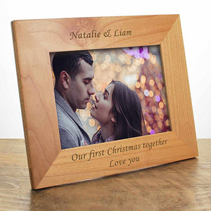 Our First Christmas Personalised Photo Frame
