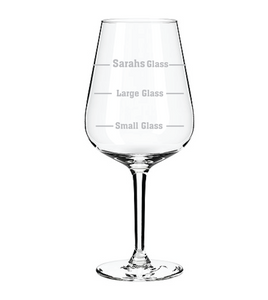 Personalised Engraved Wine Glass