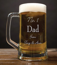 Load image into Gallery viewer, Engraved Beer Tankard Personalised Beer Tankard Gift for Dad Beer Tankard Engraved For Dad Any Message Here Beer Tankard Customised Beer Tankard