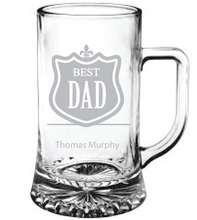 Load image into Gallery viewer, Best Dad Engraved Beer Tankard
