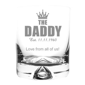 Engraved Whisky Tumbler Personalised Whisky Tumbler
