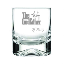 Load image into Gallery viewer, The Godfather Engraved Whisky Tumbler Engrave Whisky Glass The Godfather Engraved Whisky Glass