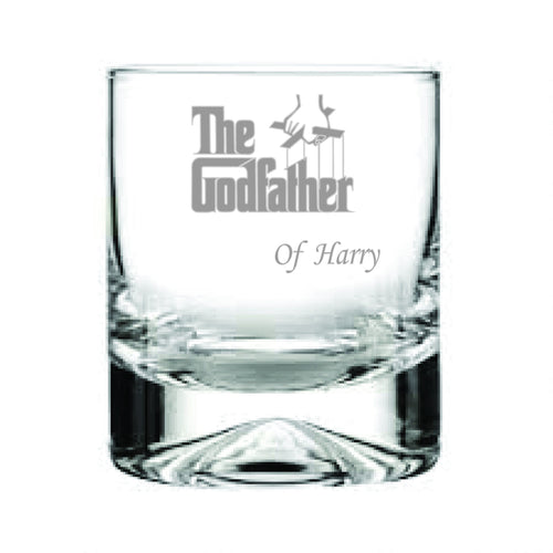 The Godfather Engraved Whiskey Tumbler