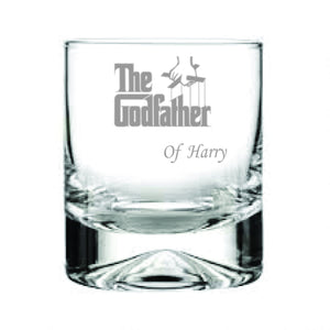 The Godfather Engraved Whisky Tumbler Engrave Whisky Glass The Godfather Engraved Whisky Glass