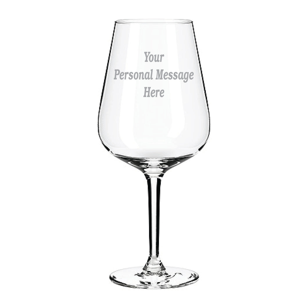 Engraved Any Message Here Wine Glass