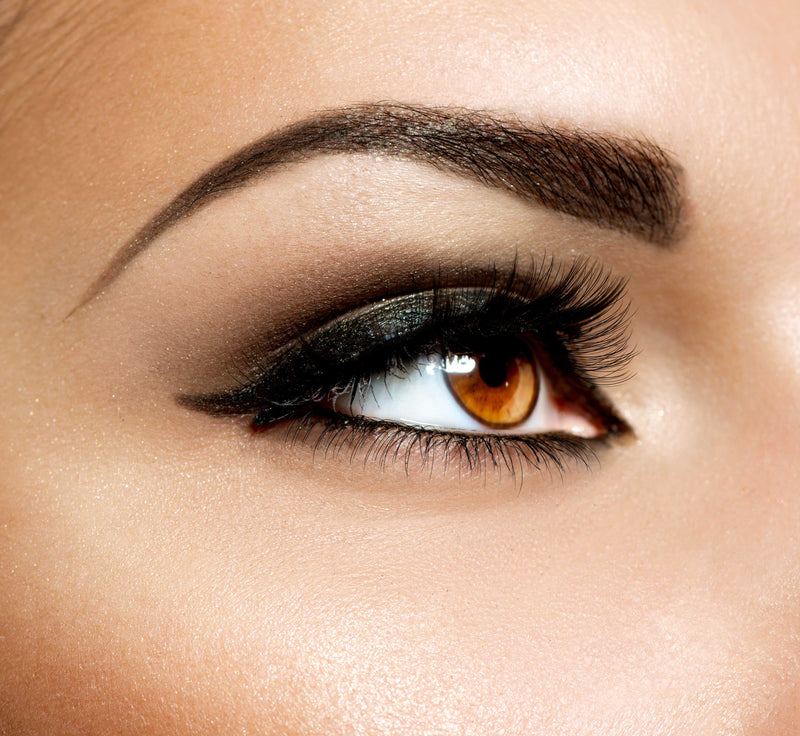 Extreme closeup eye shot of model wearing Vasanti Kajal Waterline Eyeliner