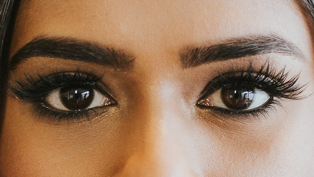 Model wearing Vasanti Kajal Extreme Intense Eyeliner Pencil - Closeup eyes shot