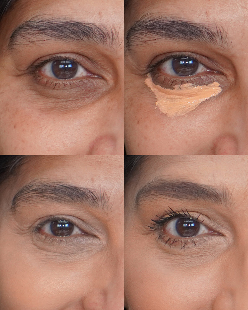Vasanti Liquid VO2 Dark Circle Eraser - Before and after closeup shot comparison