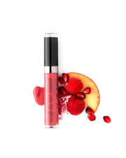 Vasanti Power Oils Lip Gloss - with ingredients Lifestyle shot