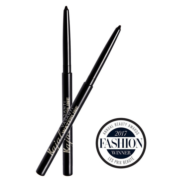 Vasanti Kajal Waterline Eyeliner Black, Pack of 2 - Front shot with badge