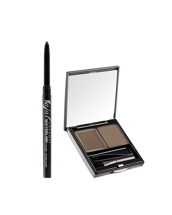 Vasanti Dynamic Brow Duo and Vasanti Kajal Waterline Eyeliner - Front shot