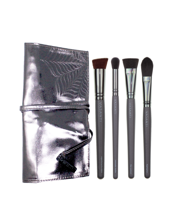 Vasanti Ultimate Face Shaper Brush Set with bag - Front Shot