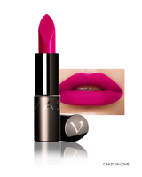 Vasanti Love Brights Gel Matte Lipstick - Shade Crazy In Love with lip swatch and product front shot
