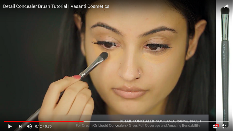 Vasanti Detail Concealer - Nook and Crannie brush - Screenshot from Youtube video
