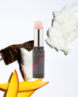 Vasanti Rise and Shine Lip Balm - Front shot with ingredients; Shea Butter, Mango Butter and Coconut