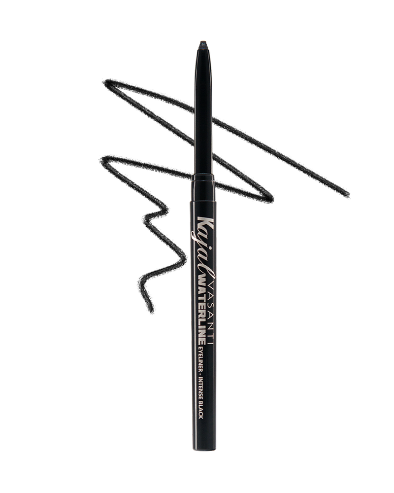 Vasanti Kajal Waterline Eyeliner Black with swatch - Front Shot