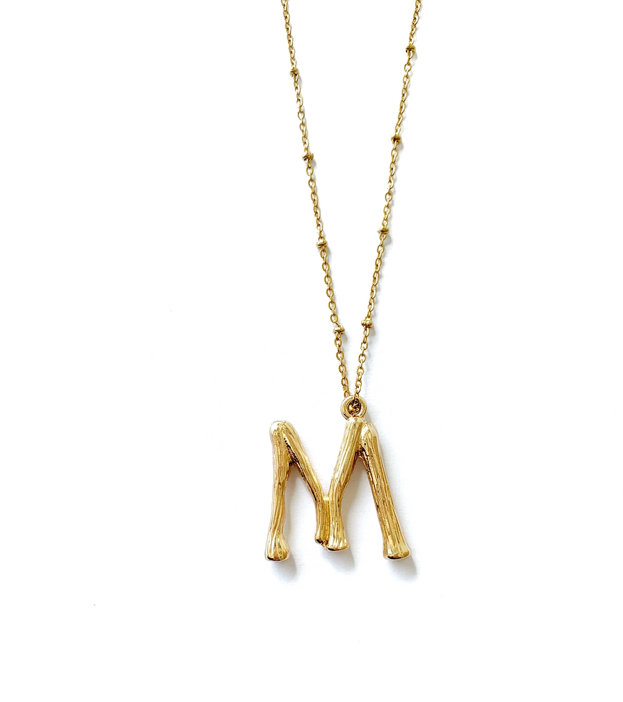 Bold Letters Necklace ( 925 Silver)