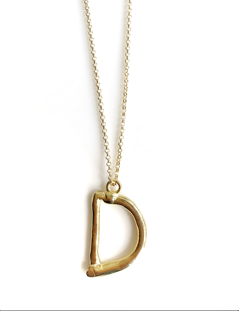 Thin Letters Necklace (925 Silver)