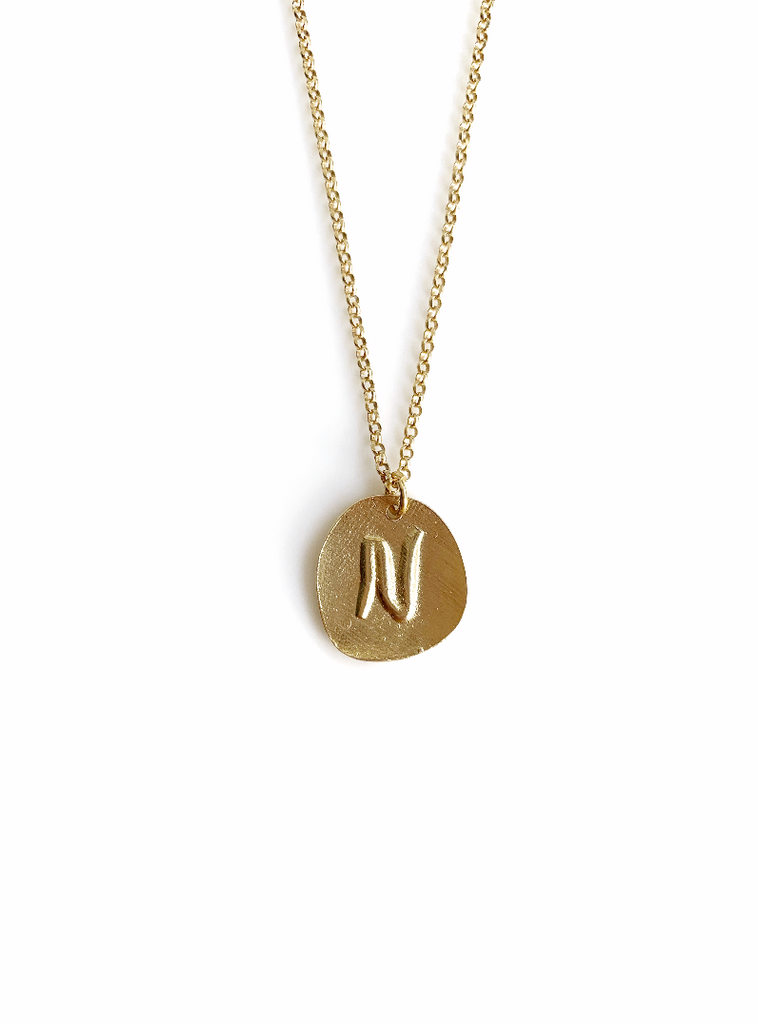 Plate Letters Necklace (925 Silver)