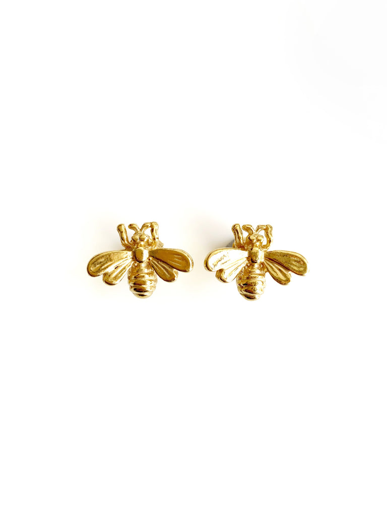 Little Bees Earrings (925 Silver)