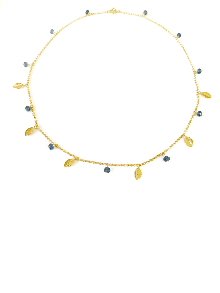 Blue Splash of Color Necklace (925 Silver)