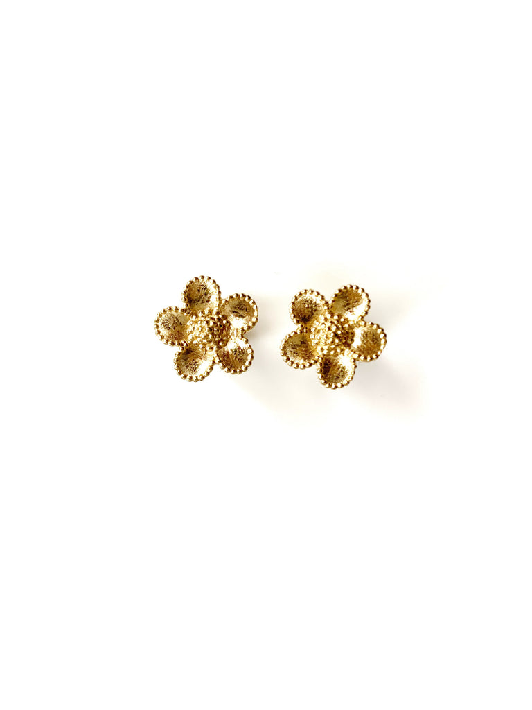 March Flower Earrings (925 Silver)